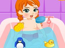 Baby Anna Bathing
