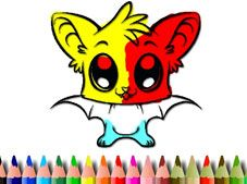 Cute Bat Coloring Book