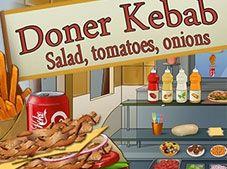 Doner Kebab Salad Tomates Onions