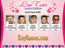 Love Tester Justin Edition