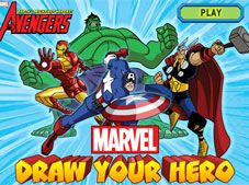 Marvel Draw Your Hero