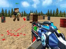 Paintball Minecraft Shooting