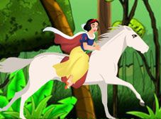 Princess Snow White Horse Riding
