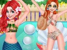 Princesses Chillin At The Pool