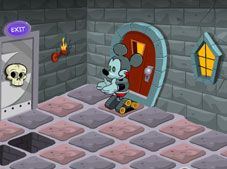Robot Mickey in the Castle
