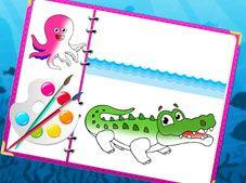 Sea Creatures Coloring Book