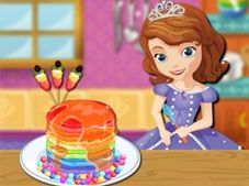 Sofia the First Rainbow Pancake Cooking